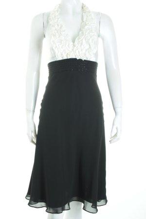 Apart Neckholderkleid schwarz-weiß Eleganz-Look