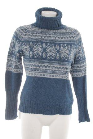 Apart Norwegian Sweater petrol-light grey mixed pattern casual look