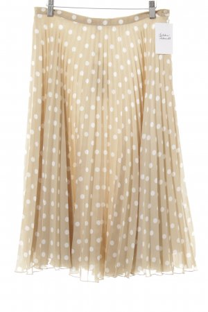 Apart Pleated Skirt cream-white spot pattern casual look