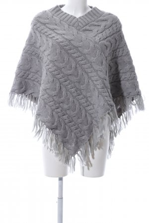Apart Poncho light grey cable stitch casual look