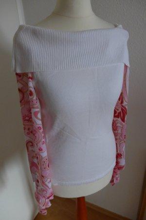 Apart Pulli Oberteil Shirt Hippie weiß rot pink Gr.34, wie neu