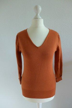 Apart Pulli Pullover Shirt Seide rost orange Gr. 34 wie neu