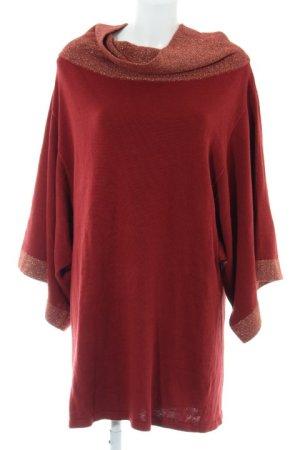 Apart Pulloverkleid bordeauxrot-goldfarben Casual-Look