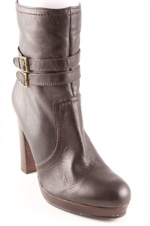 Apart Reißverschluss-Stiefeletten dunkelbraun Casual-Look