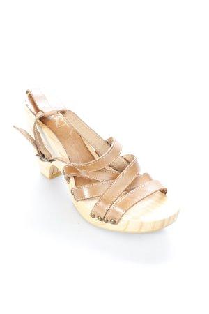 Apart Riemchen-Sandaletten braun