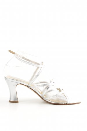 Apart Strapped pumps silver-colored elegant