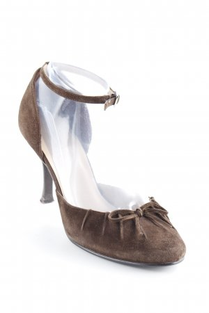 Apart Strapped pumps brown Bow detail