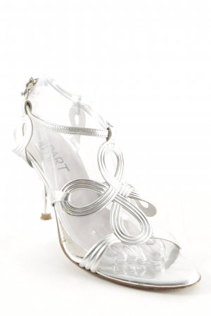 Apart Strapped pumps silver-colored abstract pattern elegant