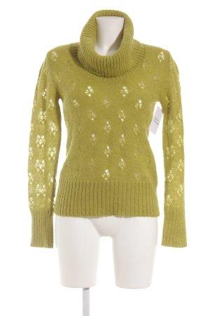 Apart Turtleneck Sweater grass green fluffy
