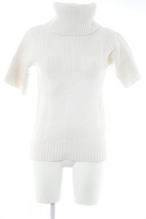 Apart Turtleneck Shirt natural white-white loosely knitted pattern