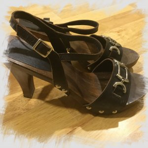Apart High Heel Sandal dark brown leather