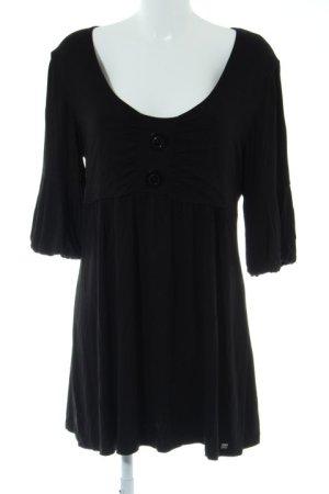 Apart Vestido estilo camisa negro look casual