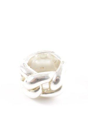 Apart Zilveren ring zilver kabel steek casual uitstraling