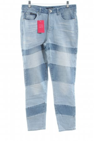 Apart Skinny Jeans blue striped pattern casual look