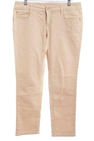 Apart Slim Jeans creme Schriftzug gedruckt Casual-Look