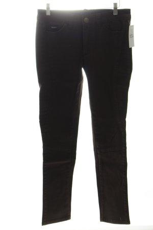 Apart Slim Jeans dunkelbraun Biker-Look