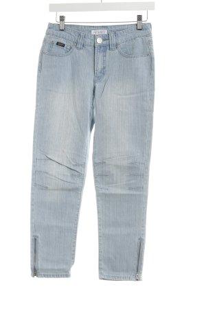 Apart Slim Jeans light blue-grey brown striped pattern casual look