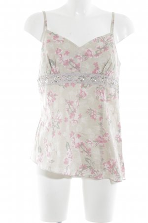 Apart Spaghetti Strap Top flower pattern casual look