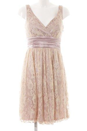 Apart Lace Dress cream-mauve flower pattern lace look