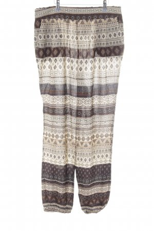 Apart Stoffhose beige-creme Ornamentenmuster Casual-Look