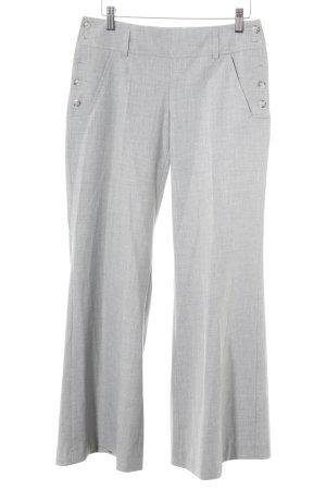 Apart Pantalon en jersey gris clair moucheté style classique
