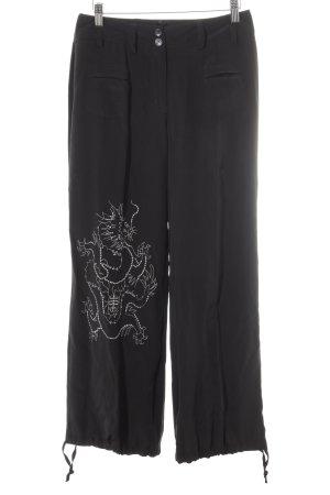 Apart Pantalone jersey nero stile stravagante