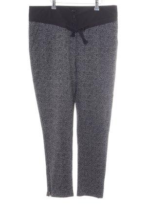 Apart Pantalon en jersey noir-gris style décontracté