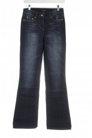 Apart Straight-Leg Jeans dunkelblau-goldorange Country-Look