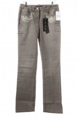 Apart Straight-Leg Jeans grau Street-Fashion-Look