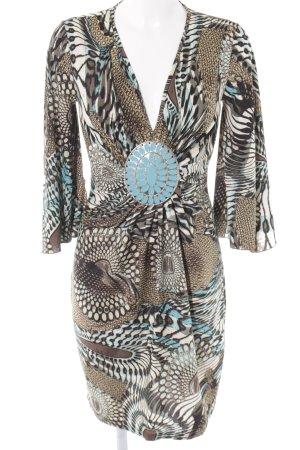 Apart Vestido elástico estampado con diseño abstracto estilo extravagante