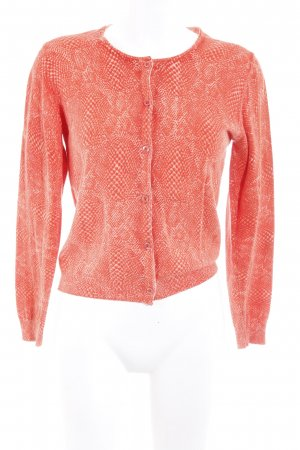 Apart Knitted Cardigan salmon-white casual look