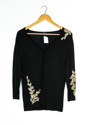 Apart Cardigan tricotés noir-brun sable