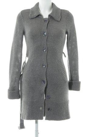 Apart Giacca in maglia grigio Motivo a maglia leggera stile casual