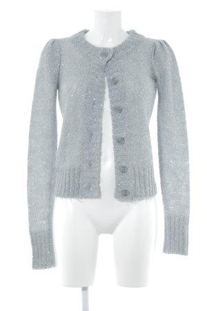 Apart Giacca in maglia grigio chiaro-argento Motivo a maglia leggera con glitter