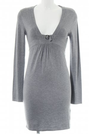Apart Knitted Dress light grey flecked casual look