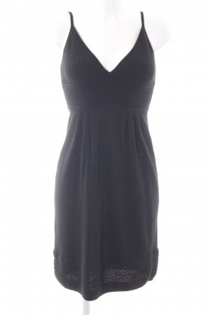 Apart Knitted Dress black cable stitch elegant