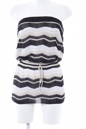 Apart Knitted Dress striped pattern '90s style