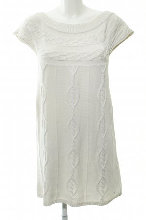 Apart Knitted Dress natural white weave pattern casual look