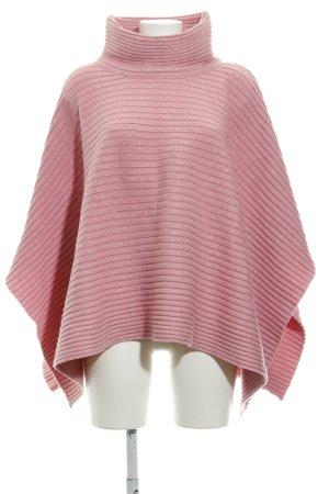 Apart Poncho in maglia rosa pallido stile casual