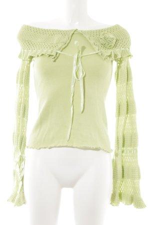 Apart Strickpullover blassgrün schlichter Stil