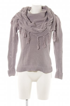 Apart Pull tricoté gris clair torsades style décontracté