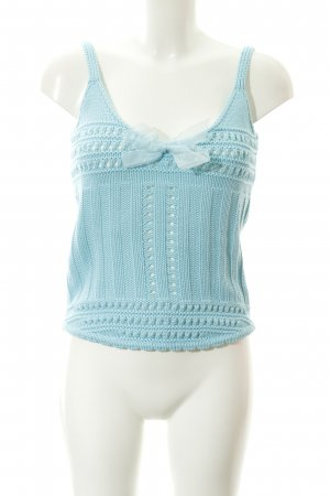 Apart Knitted Top baby blue casual look