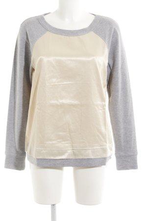 Apart Sweatshirt creme-hellgrau meliert Glanz-Optik