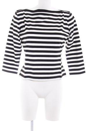 Apart Sweatshirt schwarz-weiß Streifenmuster Casual-Look