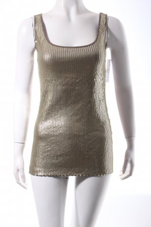 Apart Tank Top gold-colored-green grey wet-look