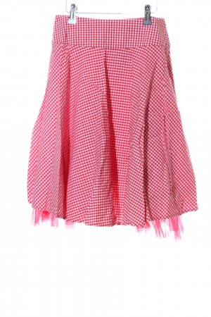Apart Circle Skirt red-white allover print extravagant style