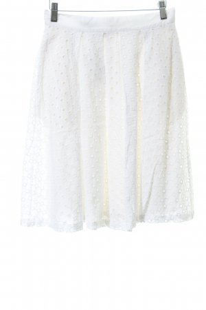 Apart Circle Skirt natural white loosely knitted pattern casual look