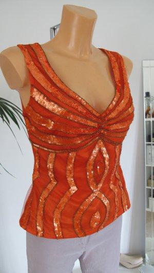 Apart Corsage Top dark orange-bright red