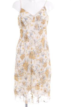 Apart Trägerkleid creme-goldorange florales Muster Beach-Look