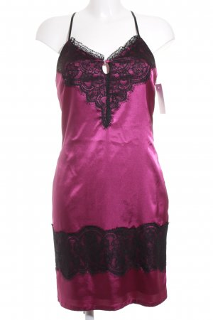 Apart Trägerkleid schwarz-violett Lingerie-Look